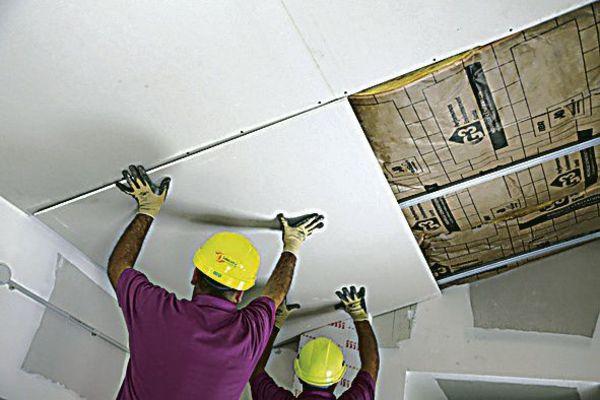 PLAFONDS - PLANCHERS - Plaque de plâtre pour faux-plafond à entraxe ...